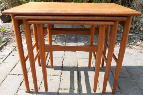1960's Retro Teak Nest of Three Tables